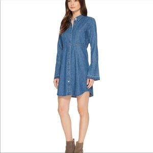 7 for all Mankind  bell sleeve denim shirt dress